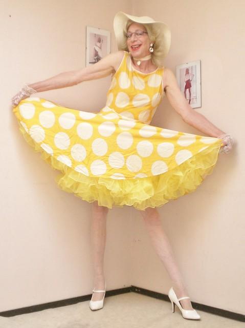 Polka dot summer dress.