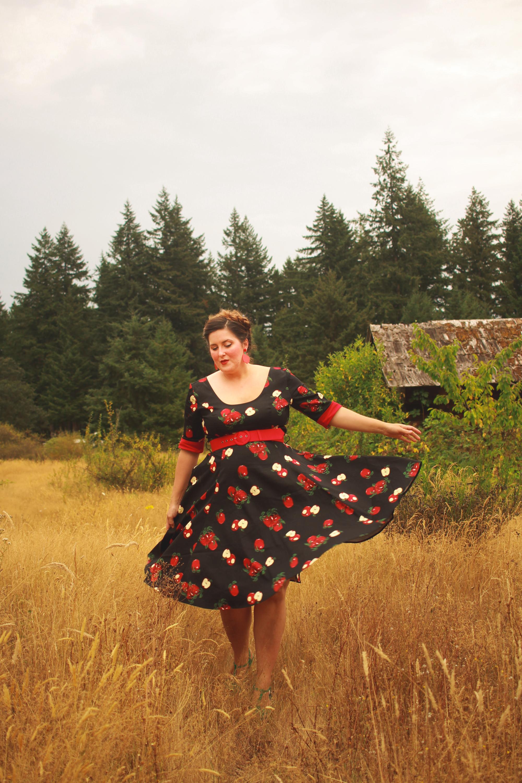 Collectif Apple Print Dress