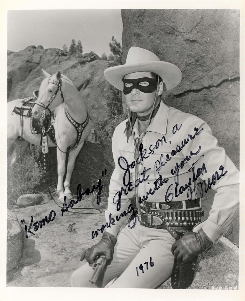 1976, Kemo Sabay, a real pleasure working with you, Clayton Moore