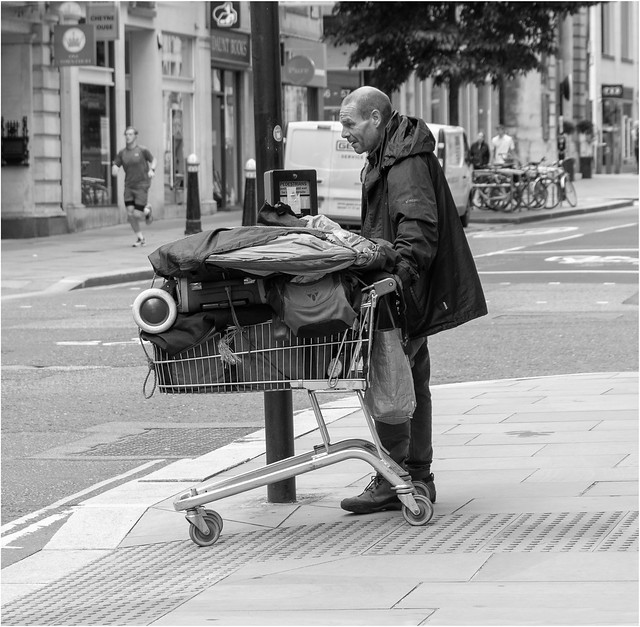 His Life In A Shopping Trolley