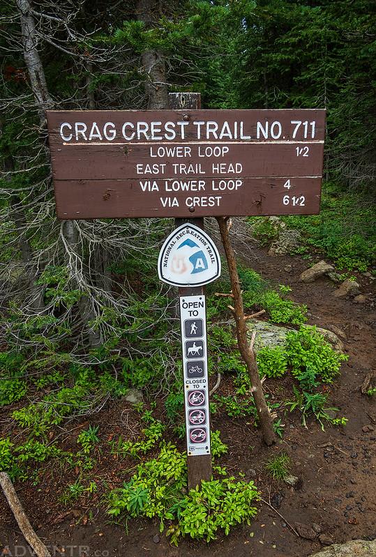 Crag Crest Trail Sign