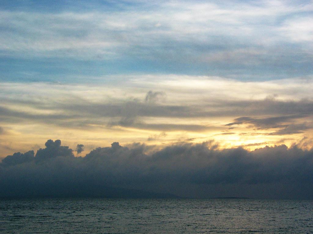 Cloudy Sunset on Taketomi Island