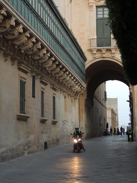 Night falling on Valletta