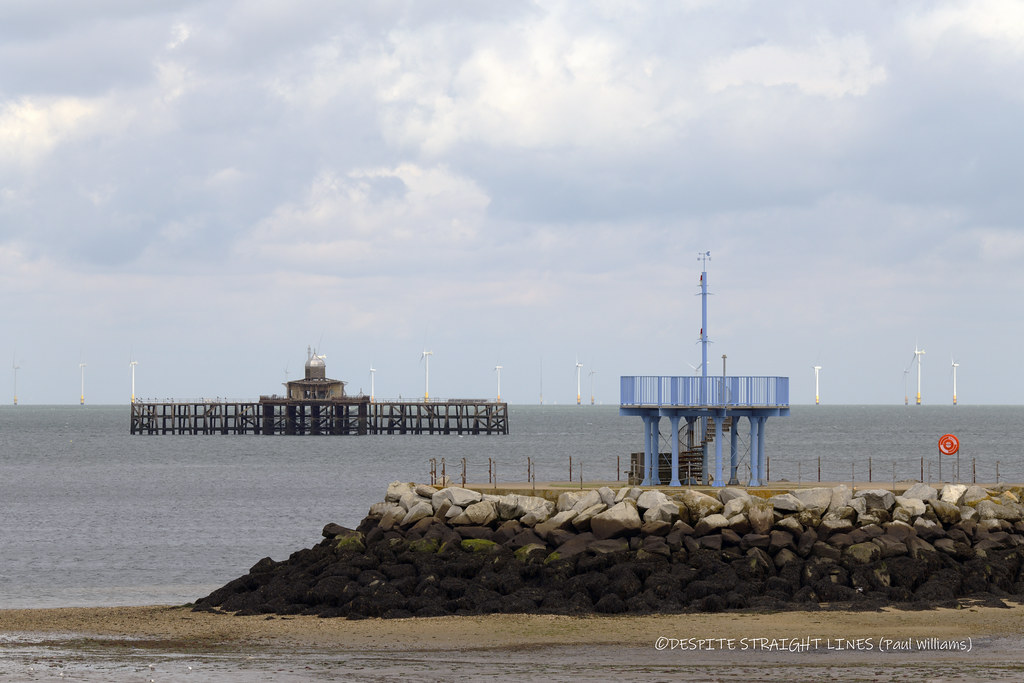 Remnants of the old pier and The End Of Neptune's Arm in Herne Bay  -  (Published by GETTY IMAGES)