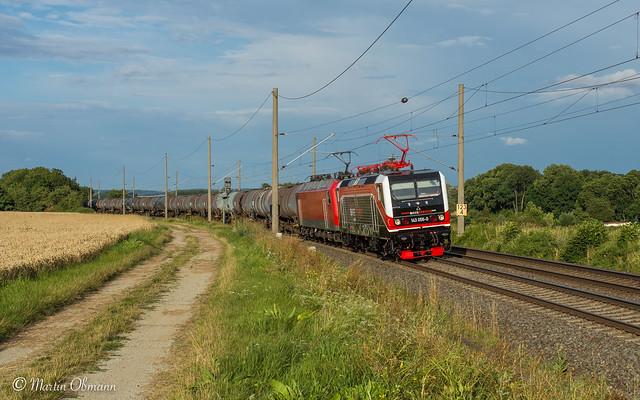 143 056 u 156 002 mit DGS 95486 Zeitz - Duisburg bei Apfelstädt