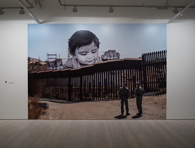 JR: GIANTS, Kikito and the Border Patrol, Tecate, Mexico - USA 2017