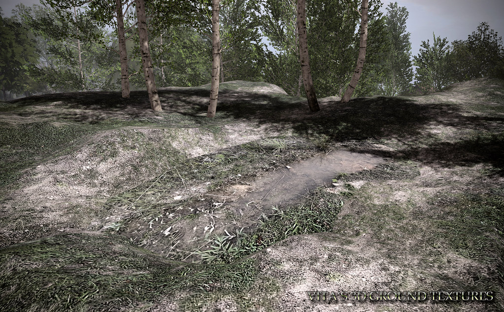 NEW 3D Ground Texture - 2 Textures! Later Summer Grass and Pile of Water for that grass (applies to objects).