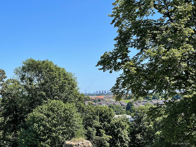 Eggborough Power Station, North Yorkshire, from Pontefract Castle : July 2021