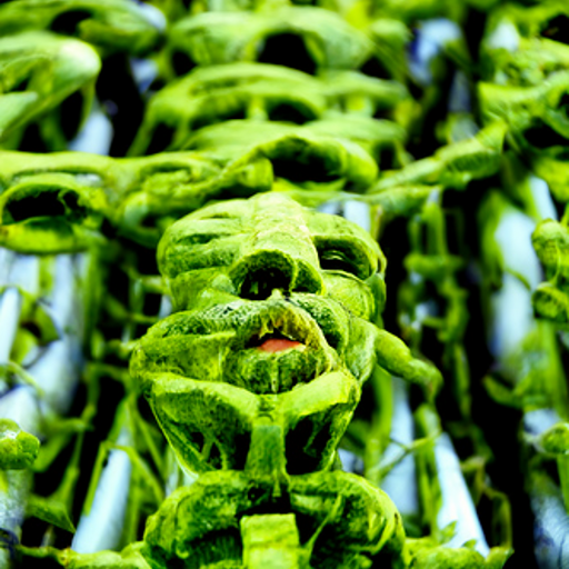 'a human made of vines' CLIP Guided Diffusion Text-to-Image