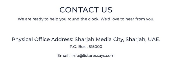 5StarEssay contact information