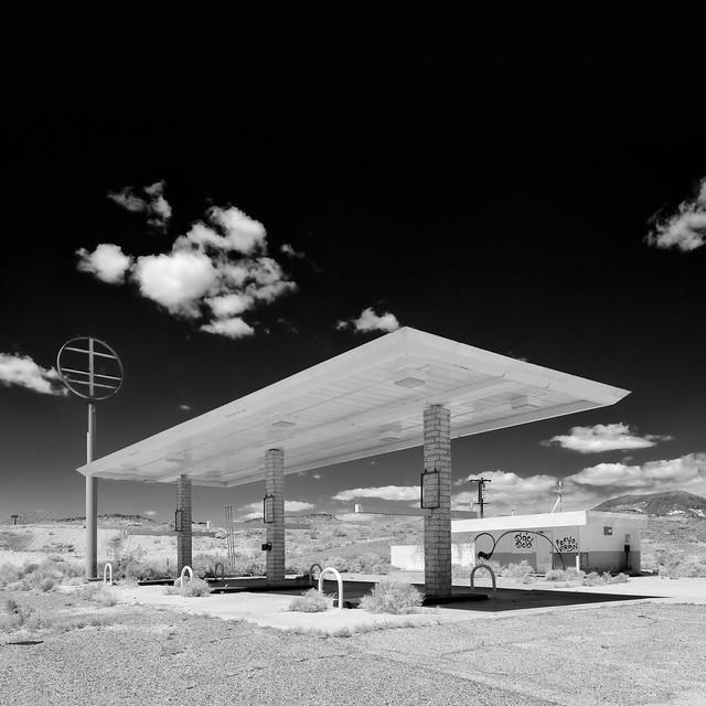 abandoned gas station. yermo, ca. 2013.