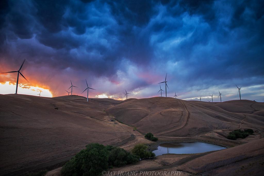 Storm Sunset at Windmill