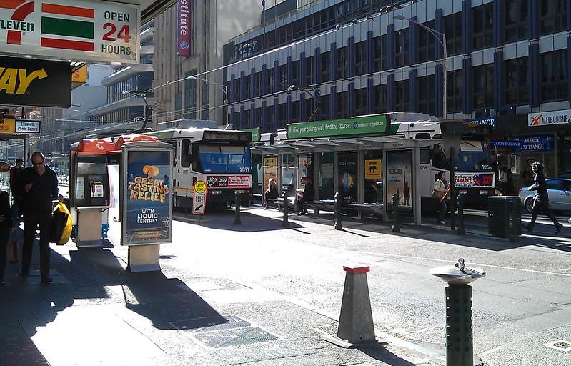 Melbourne, Elizabeth Street tram terminus, July 2011