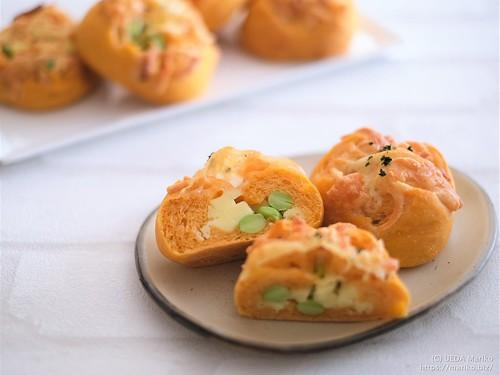 バジル酵母の枝豆チーズトマトパン 20210802-DSCF0261 (3)