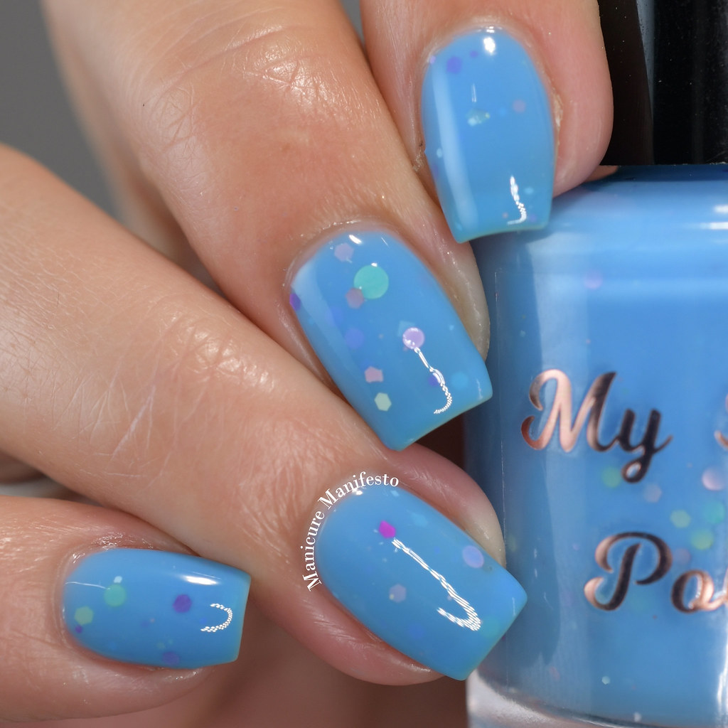 My Indie Polish Blue Pea Flower Latte review