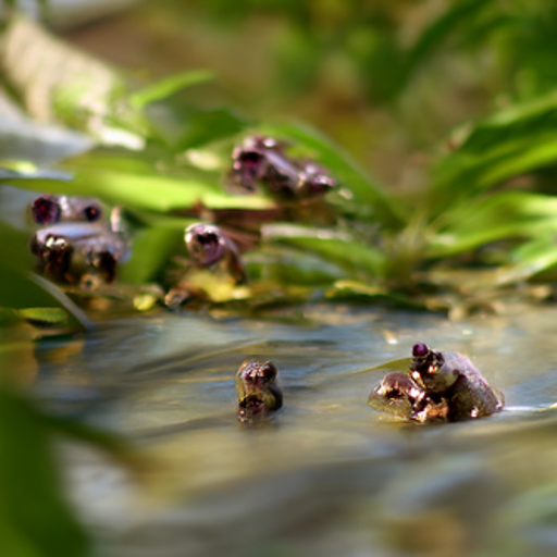'frogs' CLIP Guided Diffusion v2 Text-to-Image