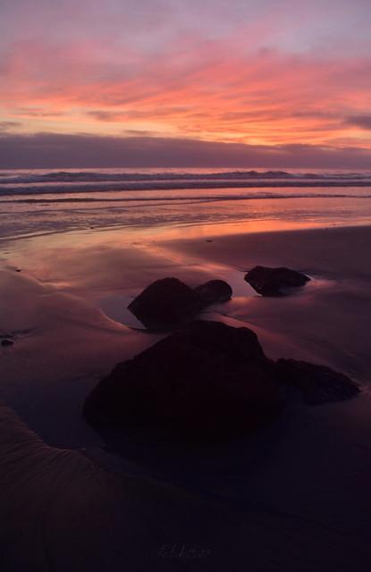 Acknowlegment Of the Self Sunset at Torrey Pines,La Jolla,San Diego,California.