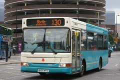 Arriva North East Ashington Based Dennis Dart SLF Plaxton Mini Pointer 1791(NK05 MYS) Seen At Newcastle Percy Street While Working The X30 To Bylth