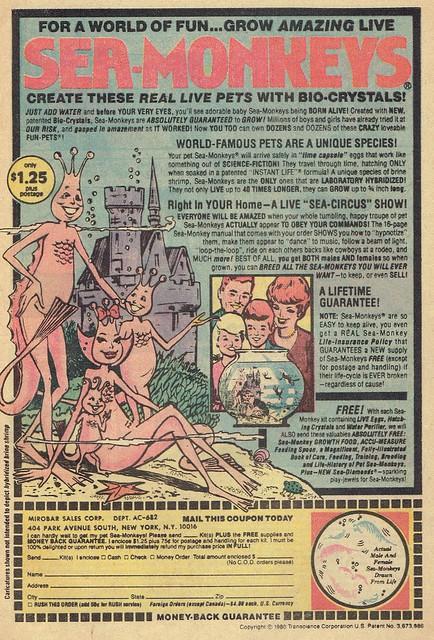 1981 Sea Monkeys Ad