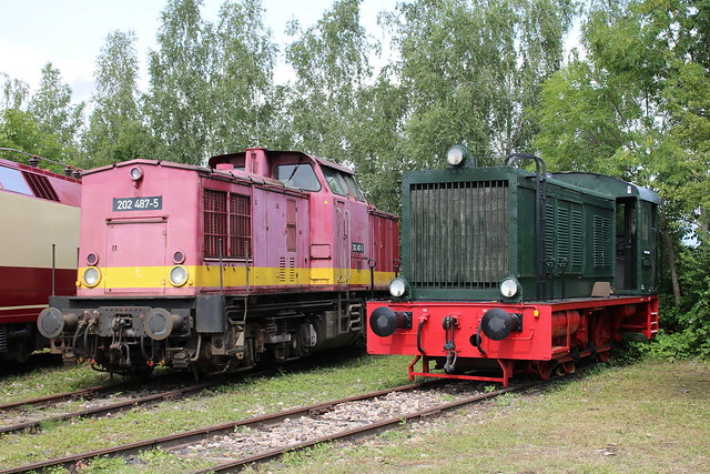 TEV: 202 487-5 und 103 032-9 im Eisenbahnmuseum Weimar