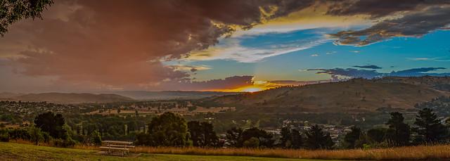 Rain and sun - Gundagai, New South Wales