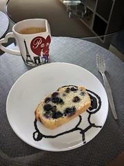 Karen Wong's blueberry cake
