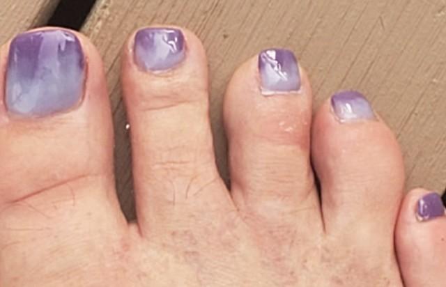 Purple to lavender ombre.