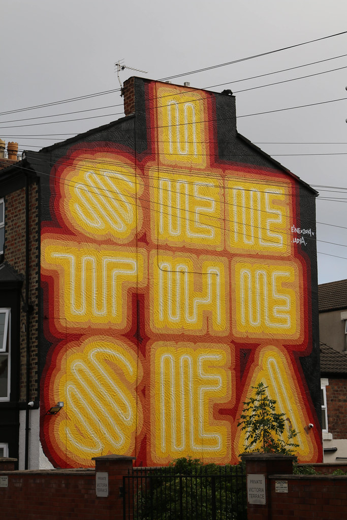 26th July 2021. I SEE THE SEA. Street Art, Windsor Street, New Brighton,  The Wirral, Cheshire