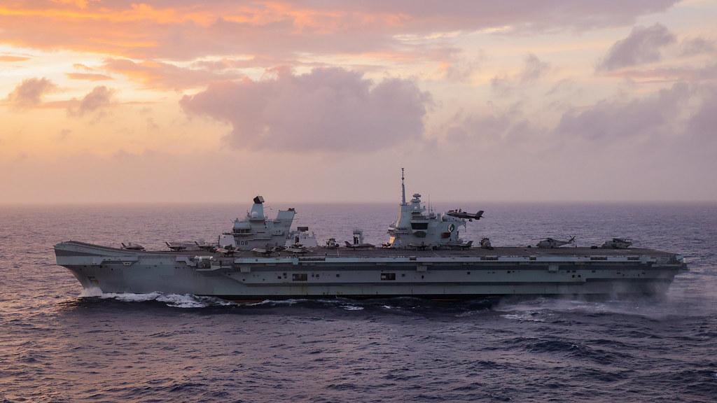 A US Marine prepares to land an F-35B aboard HMS Queen Elizabeth