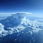 28. November 2014 - 19:23 - Cumulonimbus cloud over the Atlantic Ocean.