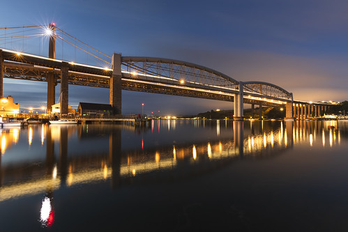 royal albert railway bridge bluehour landscape reflections river tamar saltash canon 5dmkiv 1635mm