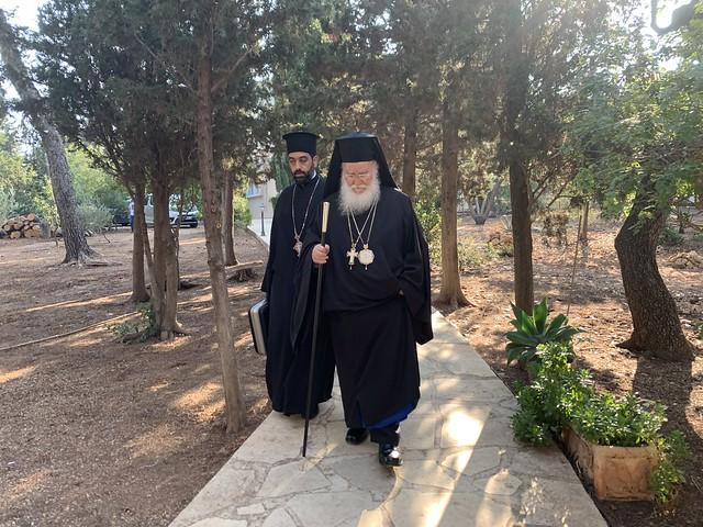 2 августа 2021, Русское и арабское духовенство совершило празднование на горе Кармил