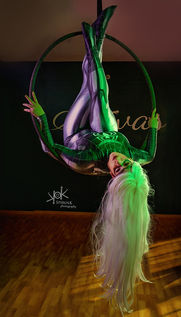Yvaine Dazzling's Black Cat on a Hoop by SpirosK photography (III: upside down)