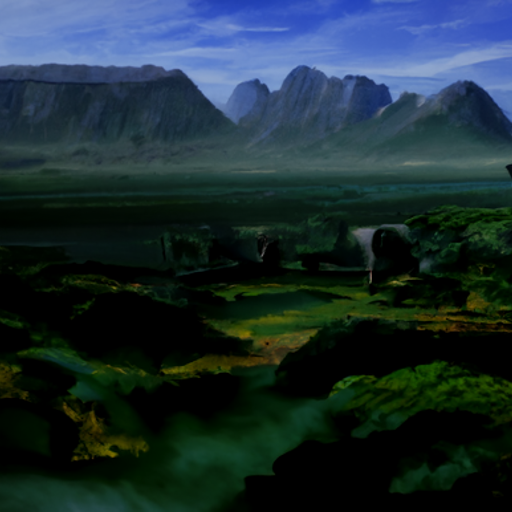 'a matte painting of a landscape' CLIP Guided Diffusion v2 Text-to-Image