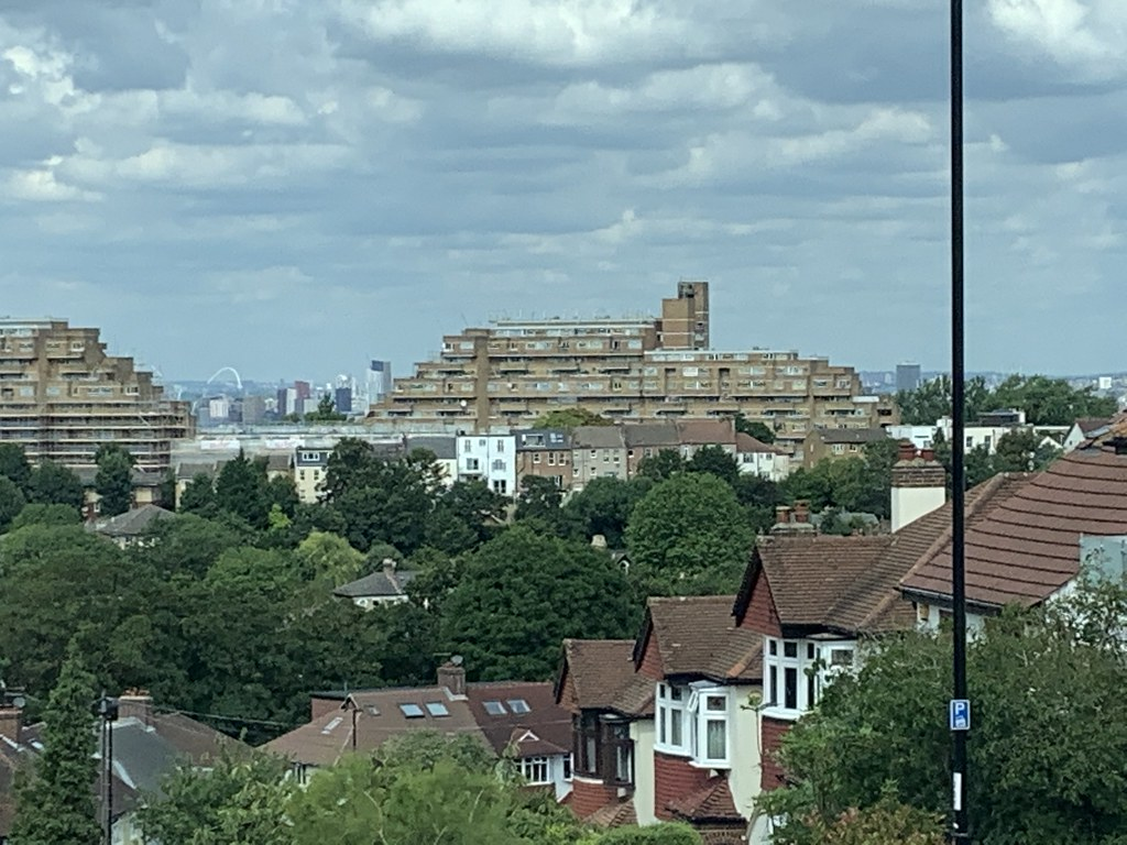 Wembley from the top of Forest Hill
