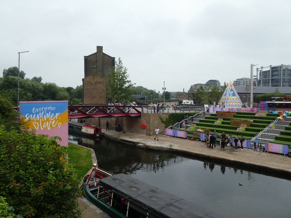 Coal Drops Yard by the canal at Kings Cross