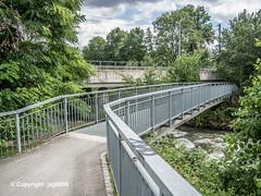 SUH710 Pedestrian Bridge over the Suhre River, Suhr, Canton of Aargau, Switzerland