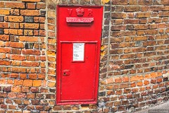 Queen Victoria Postal Collection Box. Chatham Dockyard Wall.