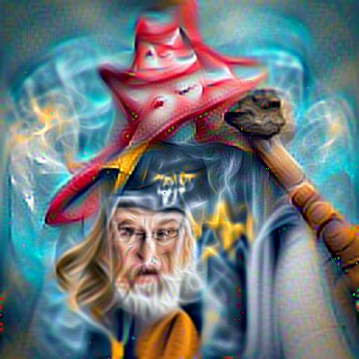 'a digital painting of a wizard' CLIPRGB