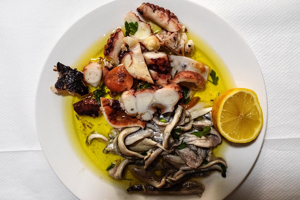 $5 plate at Detari Fish on 8-2-21--Tirana