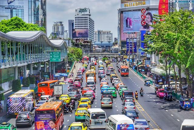 Streetscape of Bangkok