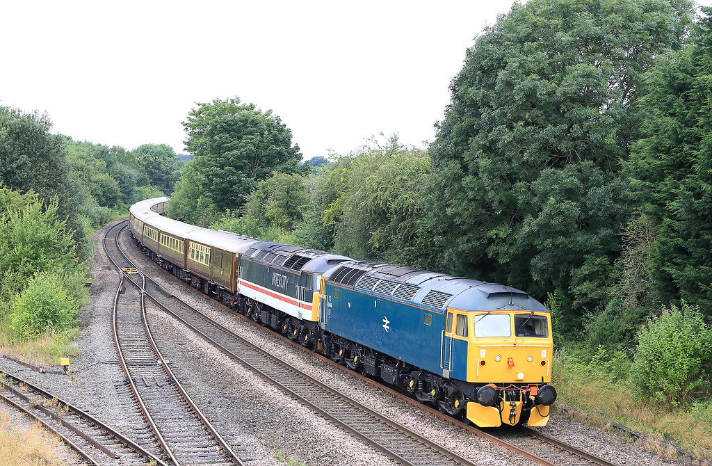 47614 828 on a Chester-Weymouth tour at Hatton on 31 July 2021