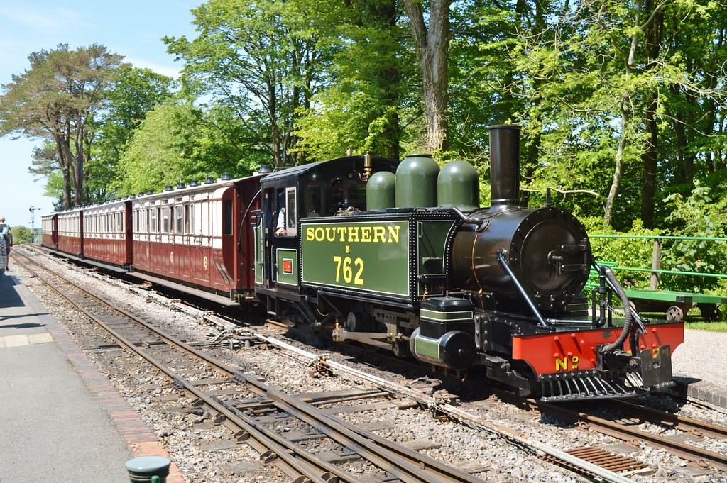 Lynton and Barnstaple Railway, Lyn at Woody Bay having just arrived with a train from Killington Lane..