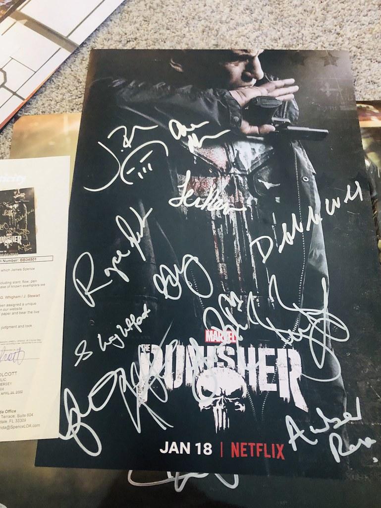 Punisher cast signed 12x18
