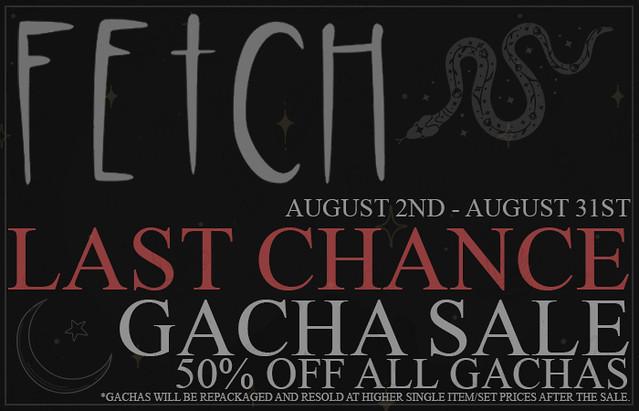 [Fetch] Last Chance Gacha Sale