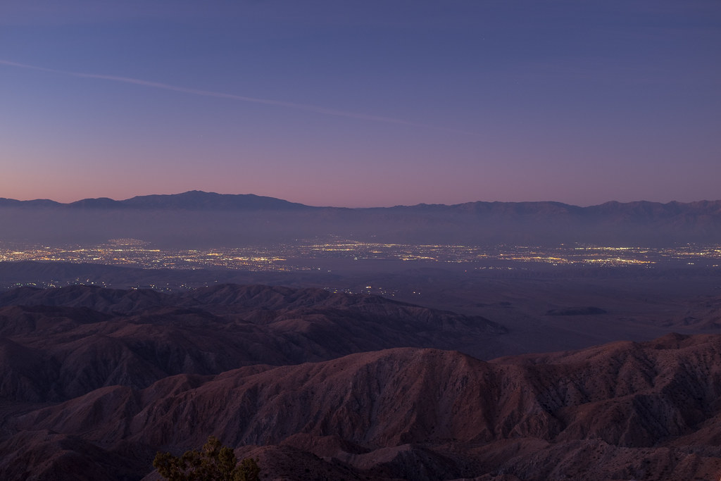 Palm Springs in the distance