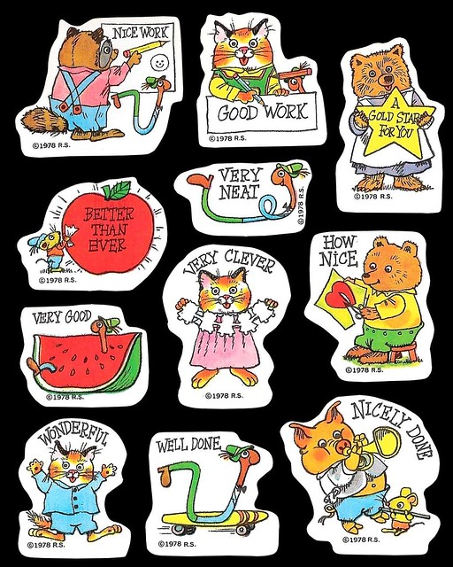 1978 Richard Scarry Stickers
