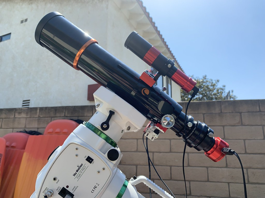 ONYX80ED with WO 0.8x reducer and flattener , ZWO ASI174MM camera, EAF , ZWO guide scope with ZWO ASI120M mini ASIAIR Pro wireless controller on SW EQ6 R Pro mount