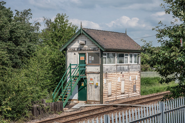 Prince of Wales Colliery signal box in Pontefract