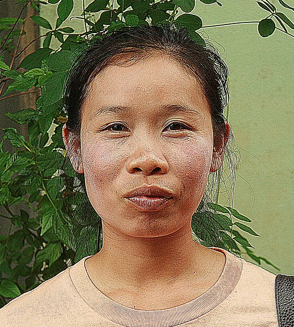 pretty chinese looking young lady